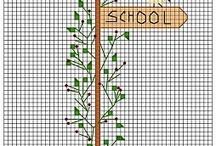 cross stitch bookmarker
