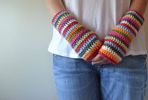 Crafts | Crochet & knitting ~ Fingerless gloves
