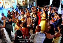 Lebanese Wedding in Santorini | Catherine and Rami | August 2016 / Photo moments from the Wedding of Catherine and Rami in Santorini | Location: Santorini Gem | Djs on Decks: Mike Vekris & Rafael Michailidis