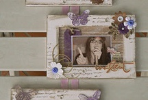 Scrap photo frame and canvas