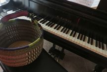 Bolga Baskets for Decorating & Orgnaizing / Bolga Round Market Basket. It's a great basket for holding music or other papers and magazines to organize.