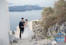 Sunny Spring Wedding in Santorini