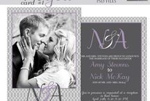 Wedding Templates / Modern, Classy and Fun Wedding Template Designs - layered .psd Photoshop files for Photographers and Designers. - Invitations, Save the Dates, trifolds, RSVP cards, Timeline Covers