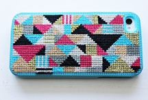 iphone cross stitch case / by Linsy Hagen