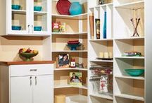 Kitchen Pantries / The key to a great pantry includes a terrific design and a plan to keep it functional and organized.Whether you have a simple reach-in area or a large walk-in space for your pantry we can help you maximize your space and give you the best design for the space you have and the items you would like to store.