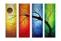 Trees and leaves.♡.Art
