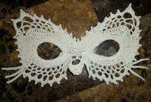 crochet masks/butterflys/crowns