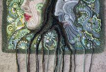 Crochet art, freeform crochet / Crochet art Freeform crochet  Virkad konst Frihandsvirkade alster