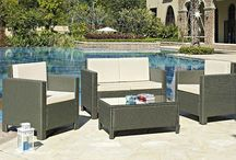 Garden Furniture Set Outdoor Lounge Sofa Chairs Coffee Table Rattan Golden Brown