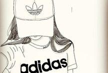 tumblr girl drawing ❤❤