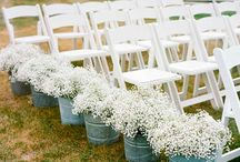 Outdoor Wedding Seating / Some absolutely gorgeous ideas for seating at your outdoor wedding ceremony!  Check out some of the outdoor ceremony sites we have at The Golden Oak Farm at www.thegoldenoakfarm.com