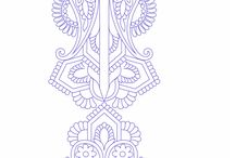 Embroidery designs / Embrodery designs, threads, seed beads, crystals, rhinestones