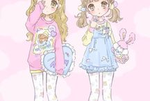 Anime Girl - Pastel