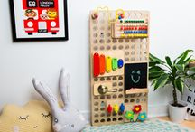 MURO / Create your own educational, wooden busy boards. MURO is a brand new toy that makes a great piece of nursery furniture. You'll love these sensory boards