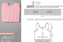 quadrados de tricô sem costura