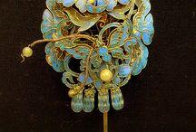 Art-Enamel-gold-silver Zománcozott / szépség