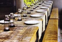Dining quail style / Relaxed rustic quail dinning style comfort eating with friends and family.