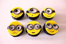 Kids theme cupcakes / Your kids favorite Disney or Cartoon character will come alive on our homemade eggless custom cupcakes. For orders, pictures of cakes, cupcakes and reviews, please visit our website http://www.sweetmantra.in