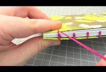 DIY: boekbinden / journals en boekjes maken / by Simone Bron