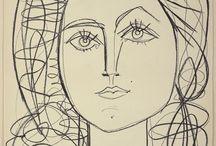 Claire, la cousine de Françoise par Picasso / art