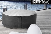 Outdoor Comfysak's / Weather proof and comfortable outdoor Comfysak's filled with memory foam.