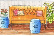 Copix Marker Rendering Furniture