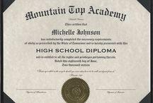 Diplomas and Certificates