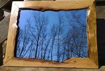 Pallet Mirror Frame / Amazing diy pallet wood mirror designs ideas.