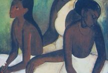 Amrita Sher-Gil / Pure! Amrita Sher-Gil (30 January 1913 – 5 December 1941) was an eminent Indian painter born in Budapest, Hungary to a Punjabi Sikh father and a Hungarian Jewish mother. She is known as India's Frida Kahlo and today considered an important painter of 20th century India, whose legacy stands one of the Masters of Bengal Renaissance. She died young: a failed abortion and subsequent peritonitis have been suggested as possible causes for her death. http://en.wikipedia.org/wiki/Amrita_Sher-Gil / by Appeltaartje Met Slagroom