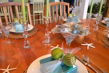 Tables Settings / Artful table settings to inspire you and add a personal touch to the heart of your home. Gloria@ArtfulKitchens.net