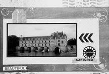 """Kit de scrap """"Capture life"""" / Pages réalisées avec le kit du mois de mars 2016."""