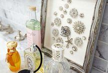 Vintage jewelry displays