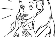 Alice in W:Coloring book / Alice in wonderland coloring pages