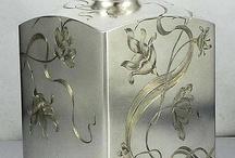 Antiek zilver/goud/ koper / Antiek zilver/goud
