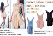 Giveaway: Romwe Dress, Gift and $50 Freebies