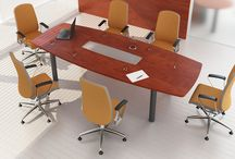 VASCO conference tables / VASCO conference table - available in many colours of table tops and bases.