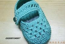 Crochet Booties, Blanket, Hat