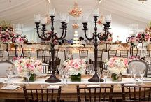Reception Tables / Pins of gorgeous wedding reception tables.