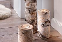 Kerzenständer / Holz