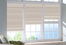 The Boutique Roman Shades / These elegant pleats expertly blur the line between drapery and shade. Choose between a flat fold or teardrop style to transform your windows and instill a feeling of luxury into any room of your home.  / by Blindsgalore