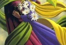 Claude Theberge με κορδέλες ζωγραφικη
