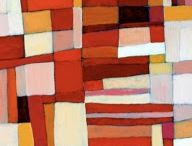 Inspiration for a stained glass window of red, brown and orange (following feng sui advice)