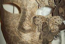 Kašírování,Papírové masky