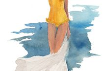 Fashion illustrations by Inslee Haynes