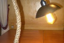 Handmade lights with nautical rope