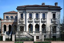 Lincoln Park Venetian Home / Struck by the beauty of the Palazzos on the Grand Canal in Venice, the original client requested BGD&C to design a true Italian Villa on Chicago's Gold Coast. When the subsequent owner purchased the home and adjoining properties, BGD&C was called upon to design and build a main plaza, swimming pool and Guest house. Photo by Wayne Cable. bgdchomes.com/