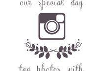 Instagram wedding taulu