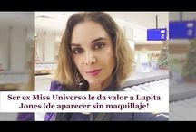Ser ex Miss Universo le da valor a Lupita Jones ¡de aparecer sin maquillaje!