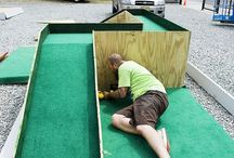 Mini Golf / Mini Golf ideas when there is no time or space for proper golf :) Also ideas for a driving range.