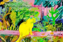Cat Paintings -fine Art / Being an Artist and loving Cats I am working on a Cat Painting Collection